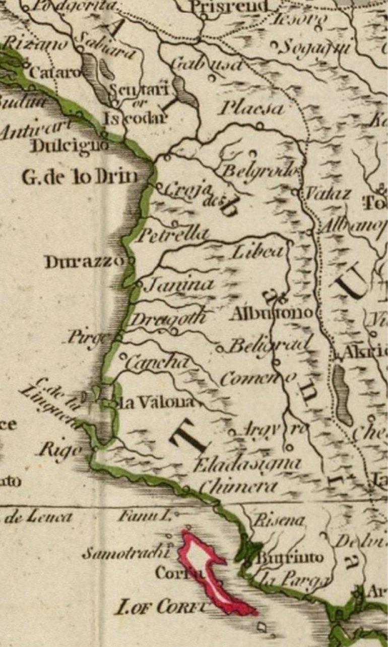 Da Se Prisetimo Cija Je Zaista Albanija Karta Iz 1795 Pobija Sve