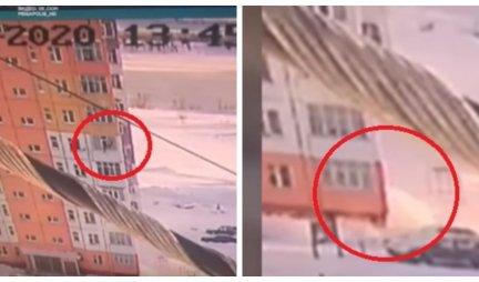 PALA SA DEVETOG SPRATA, obrisala se i ODŠETALA! Šokantan snimak iz Rusije, POMISLIĆETE DA VAS OČI VARAJU!