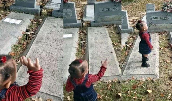 SNIMAK SA GROBLJA ŠOKIRAO SVET! Devojčica razgovarala sa duhom, MAHALA MU I POLJUBILA GA! (VIDEO)