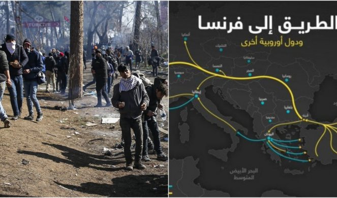 Foto Isplivala Tajna Mapa Migranti Ne Idu Preko Srbije Dobili