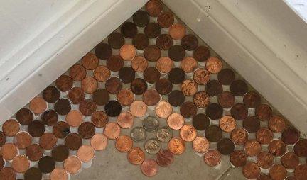 Od starih kovanica je NAPRAVILA POD, a kada vidite KAKO izgleda - poželećete ISTO! (FOTO)