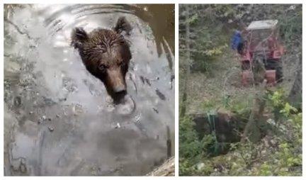 (VIDEO) Kada medved upadne u bunar u Bosni, nastane snimak koji će vas OSTAVITI BEZ TEKSTA