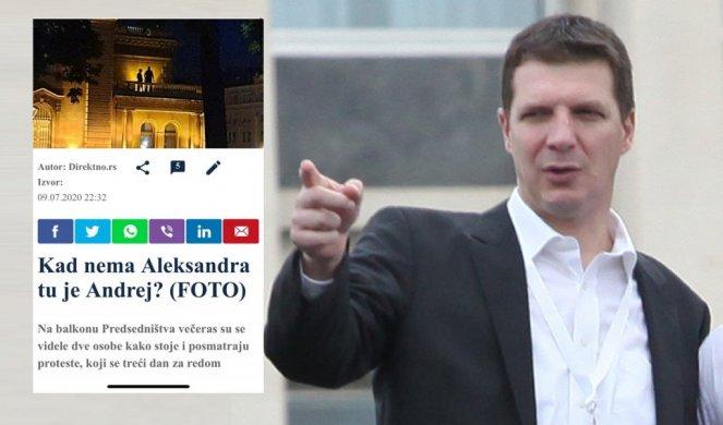 KAKVI LAŽOVI, STRAŠNI LAŽOVI! Izmislili da je Andrej Vučić na balkonu Predsedništva!