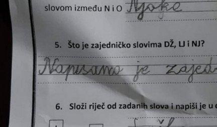 NASMEJAO REGION DO SUZA! Školarac dobio zadatak da pronađe reč ŠKOLA, kada vidite ŠTA JE ON UGLEDAO... GENIJALNO! (FOTO)