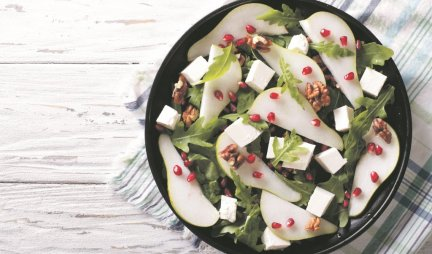 Vrhunska salata, PRAZNIK ZA NEPCA - Kruške sa rukolom, fetom i orasima!