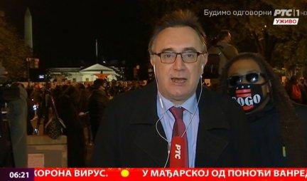 (VIDEO) ŠOK U JUTARNJEM PROGRAMU! Dok je novinar RTS izveštavao uživo iz Amerike, na ekranima se POJAVILA NEVEROVATNA SCENA