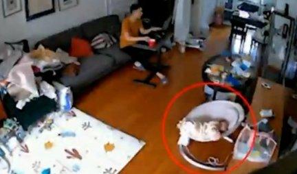 (VIDEO) Zbog ovog snimka bebe i oca SVIMA JE NA TRENUTAK ZASTAO DAH