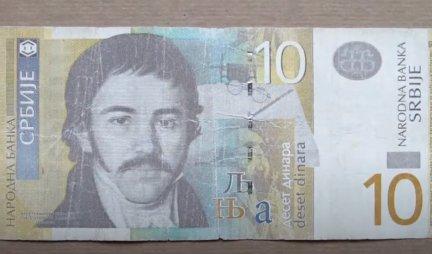 AKO IMATE OVAKVU NOVČANICU OD DESET DINARA, ODMAH JE MOŽETE ZAMENITI ZA 8.000 EVRA! Brzo proverite novčanike! /FOTO/