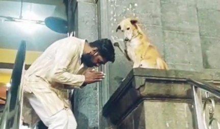 OVO SE NE VIĐA SVAKI DAN! Pas blagosilja ljude koji napuste hram! /VIDEO/