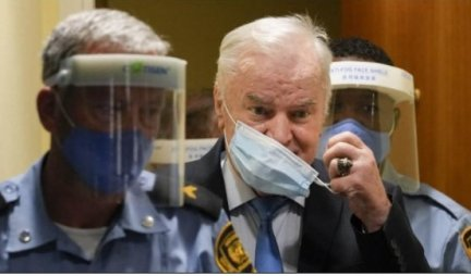 WESTERN MEDIA DEMONIZES RATKO MLADIC AGAIN!  Here is how they conveyed the news of the verdict to the general!  /PHOTO/