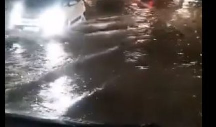 UNFORGETTABLE STORM IN SUBOTICA, CARS SWIMMED ON THE STREETS!  Lightning, strong wind and heavy rain fell on the city!  / VIDEO /